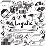 Логистический, транспорт, и почерк d управления запасами бесплатная иллюстрация