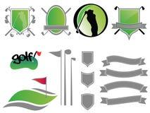 логосы гольфа Стоковое Изображение RF