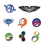 Логосы иконы Стоковые Изображения RF