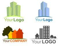 логосы имущества собрания реальные Стоковые Изображения RF