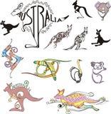 Логосы перемещения Австралии Стоковые Фото