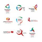 Логос покрашенных кругов Стоковое Изображение RF