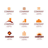 Логос конструкции и недвижимости Стоковое Фото