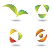 Логосы eco градиента иллюстрация вектора