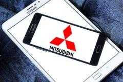 Логос автомобиля Мицубиси Стоковое Фото