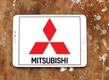 Логос автомобиля Мицубиси Стоковое Изображение RF