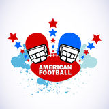 логос американского футбола Стоковая Фотография