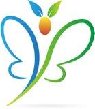 Логос бабочки Стоковое Изображение RF