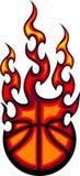 логос баскетбола пламенеющий Стоковая Фотография RF