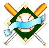 логос бейсбола Стоковое Изображение