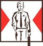 логос бизнесмена Стоковые Фото