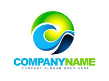 Логос волны моря Стоковая Фотография