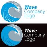 Логос волны океана Стоковое Изображение