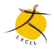 логос высокия профессионализма мотивационный Стоковое Изображение