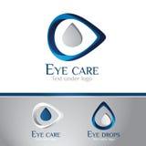 логос глаза центра внимательности Стоковое Изображение RF