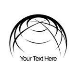 логос глобуса земли иллюстрация вектора