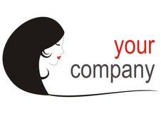 логос девушки компании ваш Стоковая Фотография
