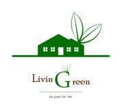 Логос дела зеленого дома Стоковое фото RF