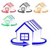 Логос дома Стоковое Изображение RF