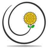 Принципиальная схема цветка логоса дела Стоковая Фотография