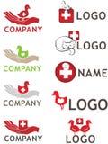 логос животной внимательности Стоковая Фотография RF