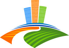 логос здания самомоднейший иллюстрация вектора