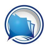 логос иконы документа круглый Стоковое Изображение RF