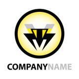 логос иконы конструкции пчелы Стоковое Изображение