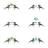 логос икон окружающей среды иллюстрация вектора