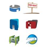 логос имущества дела реальный Стоковые Изображения RF