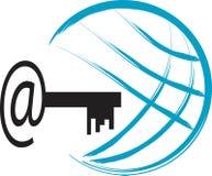 логос интернета иллюстрация штока