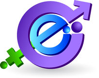 логос интернета Стоковое Фото