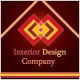 логос интерьера конструкции компании Стоковое фото RF