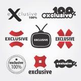 Исключительные логосы Стоковые Изображения RF