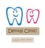 логос клиники зубоврачебный счастливый Стоковые Фотографии RF