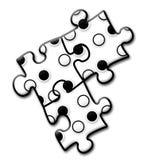 Логос компании - головоломка 4 стоковое фото rf