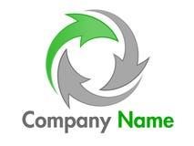 логос компании зеленый рециркулируя вектор Стоковое фото RF