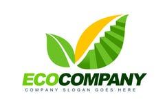 Логос компании Eco Стоковые Изображения RF