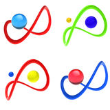 логос конструкции Иллюстрация штока