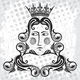 логос короля Стоковое Изображение