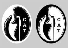 логос кота иллюстрация штока