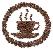 логос кофейной чашки Стоковые Изображения