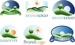 логос ландшафта Стоковая Фотография