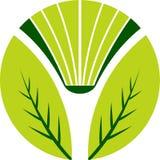логос листьев книги Стоковое фото RF