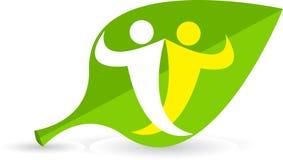 логос листьев пар Стоковые Фотографии RF