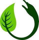 логос листьев руки круглый Стоковые Фотографии RF