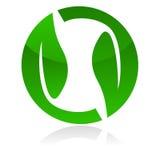 логос листьев Стоковое фото RF