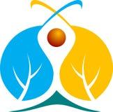 Логос листьев Стоковое Изображение RF