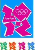 Логос Лондон 2012 олимпийский Стоковые Фотографии RF