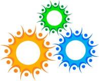 Логос людей шестерни Стоковые Фото